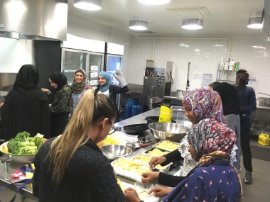 """""""We love it when you cook with us!"""" - participant in the NewComers cooking group"""